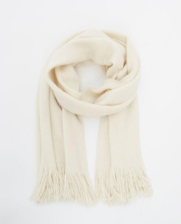 Zachte sjaal ecru