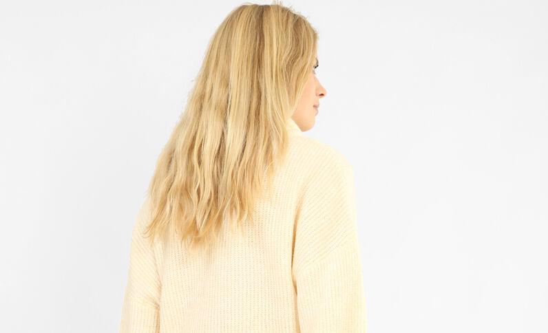 XL-trui gebroken wit