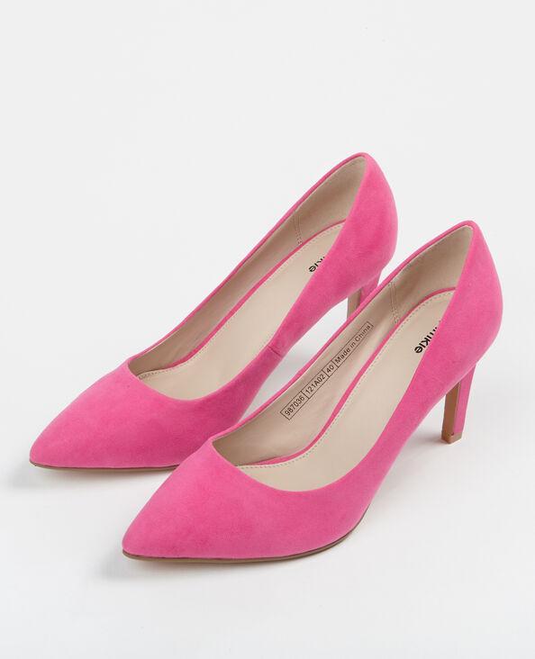 Puntvormige pumps roze