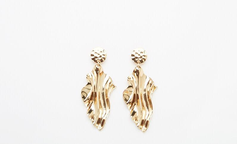 XL-oorbellen goudkleurig