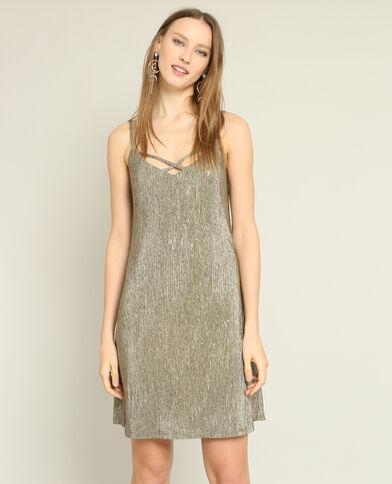 Gestructureerde jurk goudkleurig