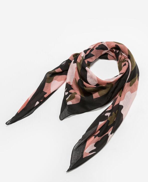 Foulard camouflage noir