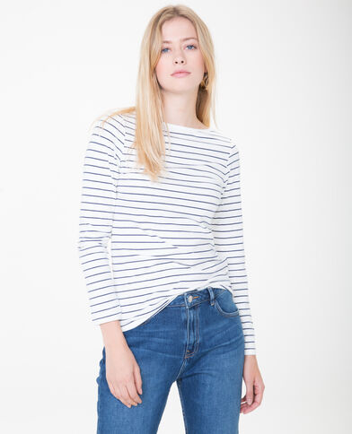 Basic T-shirt gebroken wit