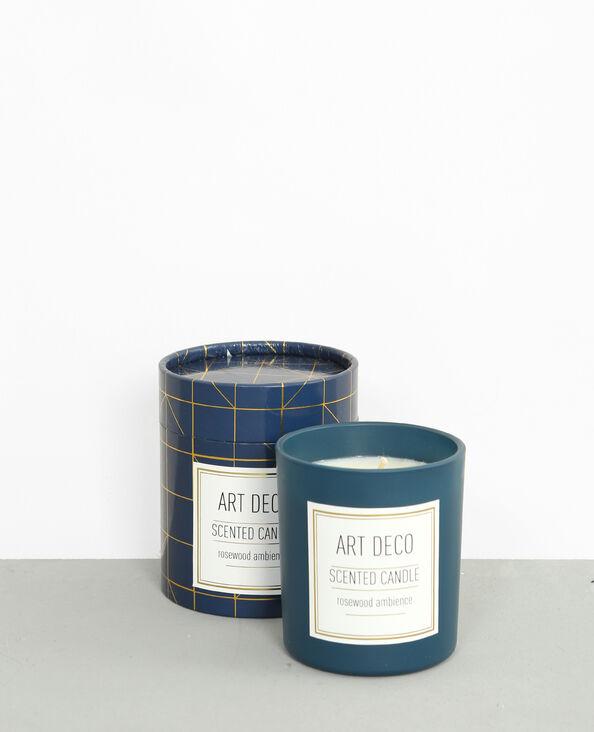Art deco 'Rosewood'-geurkaars marineblauw