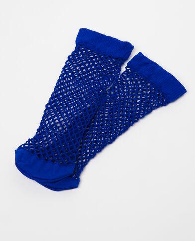 Chaussettes résille bleu électrique