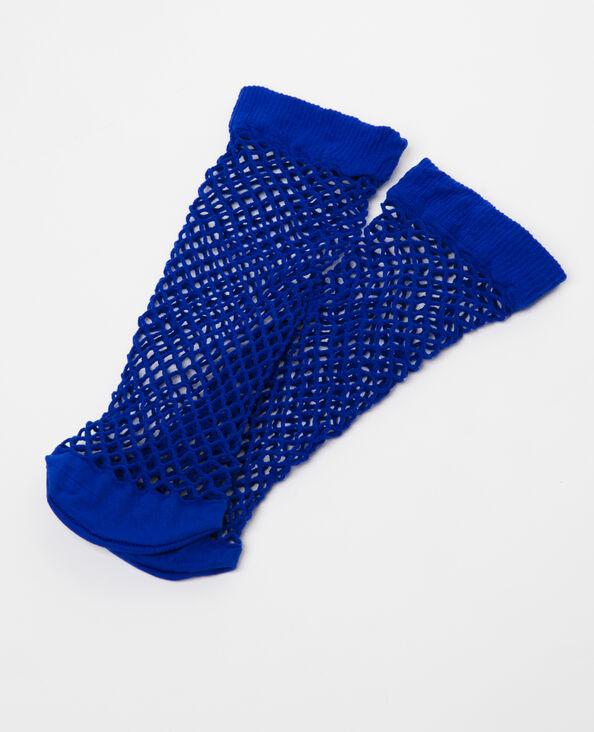 Sokken van nettricot elektrisch blauw