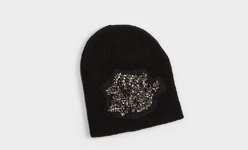 Bonnet bijou noir