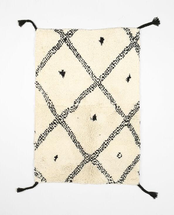 Berbers tapijt van wol wit