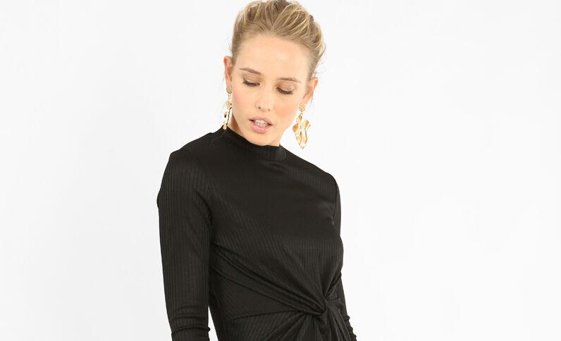 Twisted jurk zwart