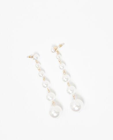 Oorbellen met parels gebroken wit