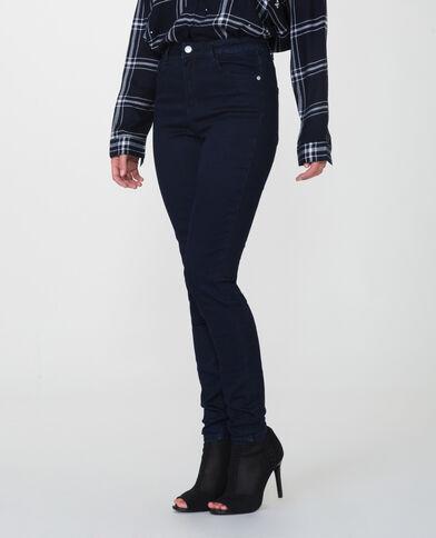 Skinny met hoge taille blauw