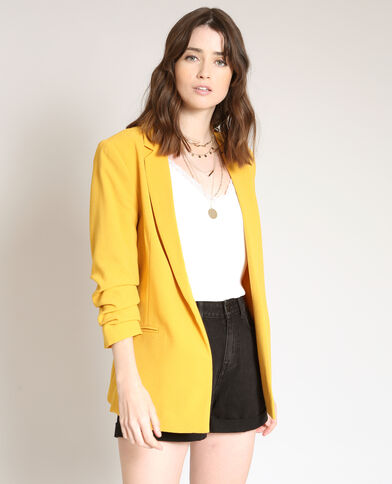 Blazer manches 3/4 moutarde