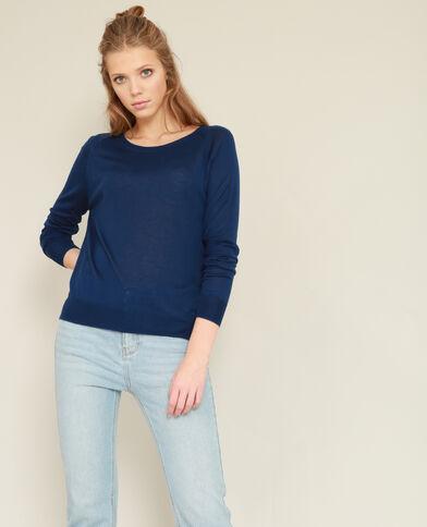 Lichte basic trui donkerblauw