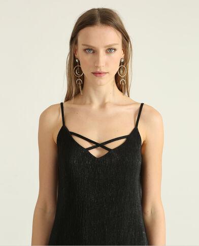 Gestructureerde jurk zwart