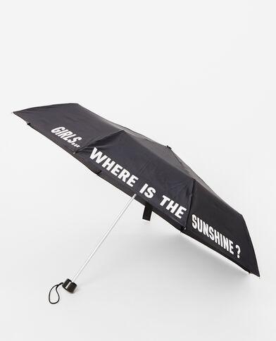 Kleine paraplu zwart