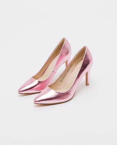 Shiny pumps roze
