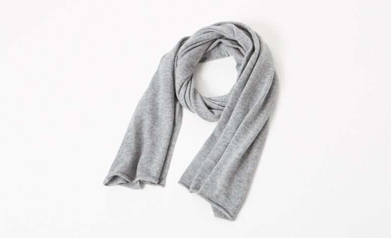 Echarpe 100% cachemire gris chiné