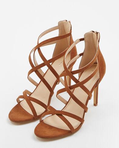Sandales à talons aiguilles marron