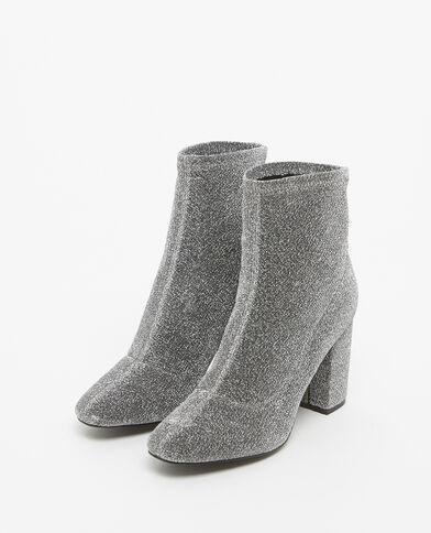 Laarzen met hakken zilvergrijs