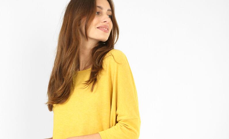 Pull doux jaune