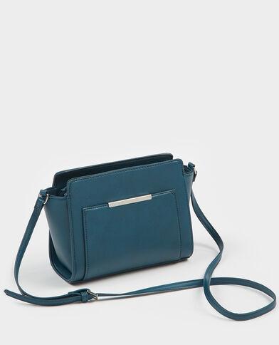 Trapeziumvormig boxy tasje eendenblauw