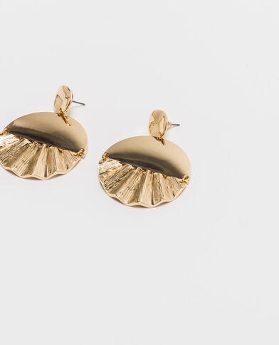Schelpvormige oorbellen goudkleurig