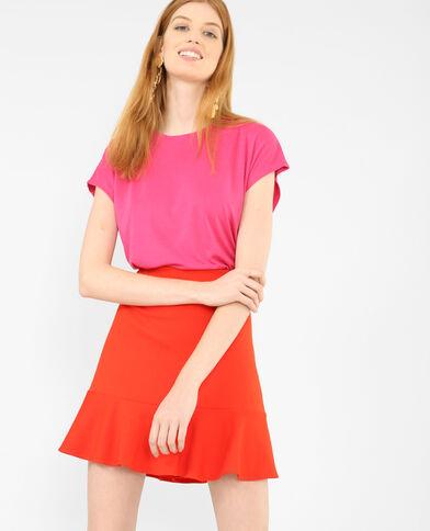 Soepelvallend T-shirt roze