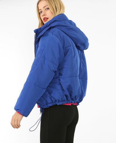 Doudoune oversized bleu électrique