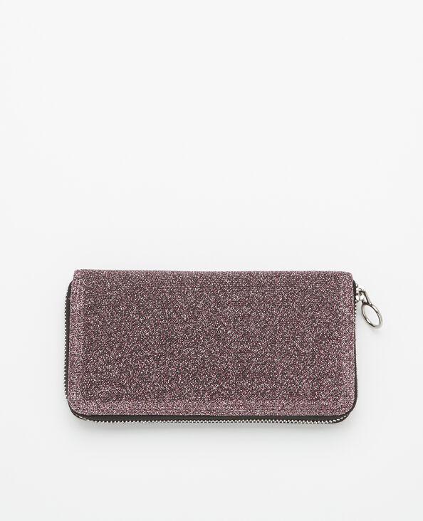 Lange portefeuille met glitter roze