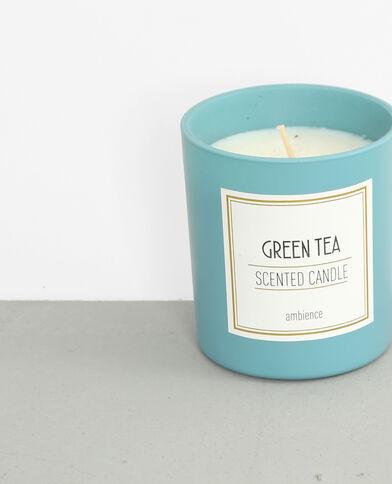 Green tea'-geurkaars verwassen blauw