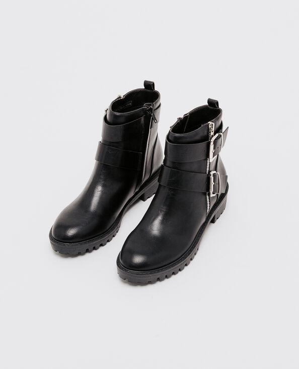 Boots esprit motard noir