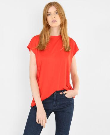 T-shirt fluide rouge