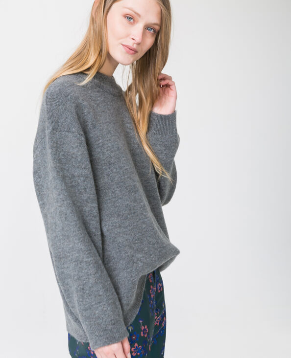 Pull oversized gris