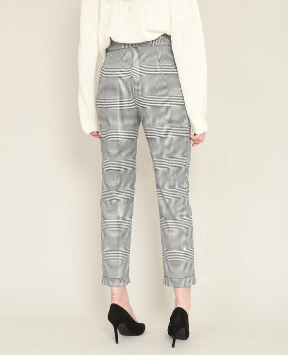 Pantalon carotte imprimé gris