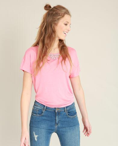 Top à bijoux rose