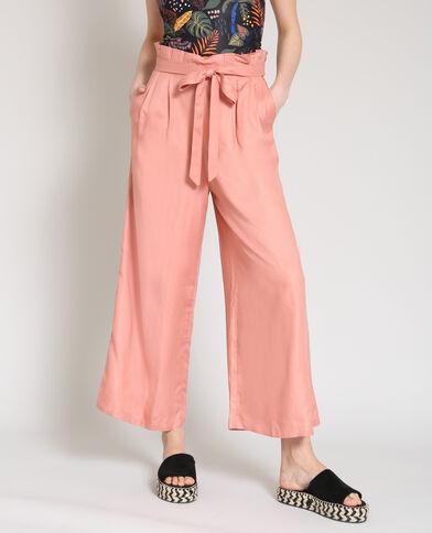 Pantalon large rose poudré