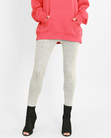 Legging van tricot grijs