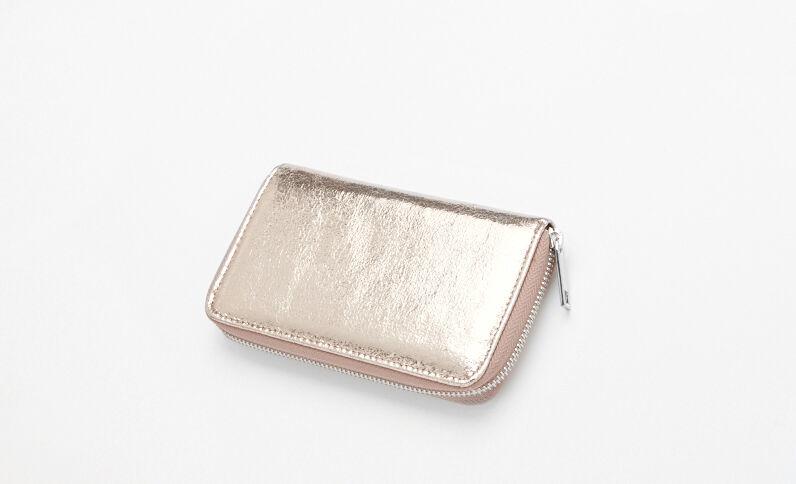 Metallic portefeuilletasje goudkleurig