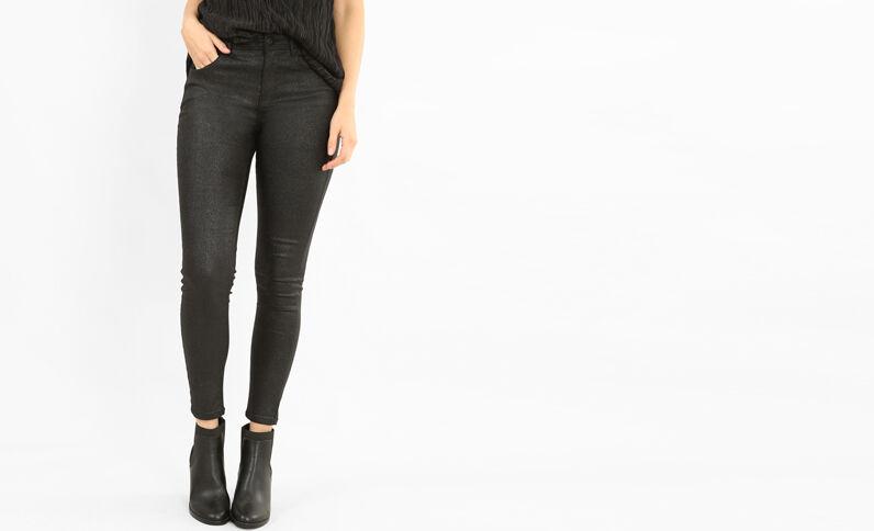 Skinny pailletté noir