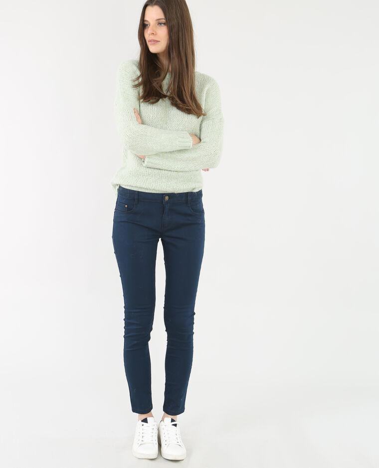 Slim fit broek marineblauw