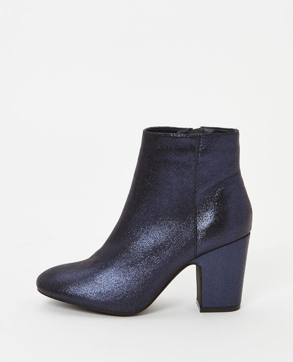 Laarzen met glanzende hakken blauw