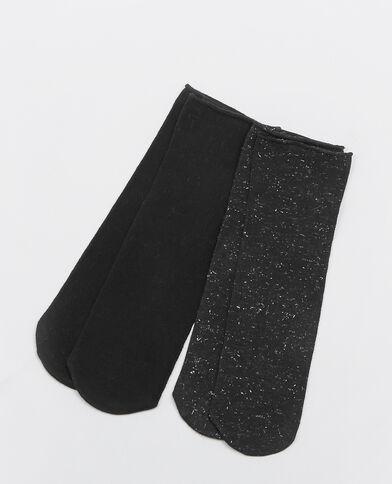 Set van 2 paar sokken zwart
