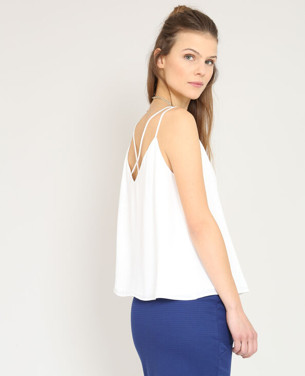 Topje met dunne schouderbandjes wit