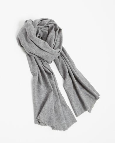 Zachte sjaal gemêleerd grijs