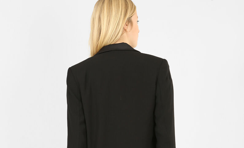 Soepelvallende blazer zwart