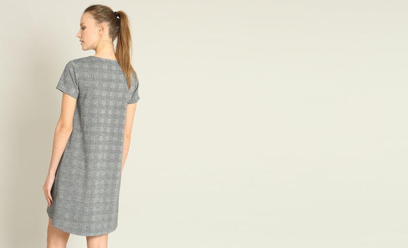 Robe imprimé Prince de Galles gris