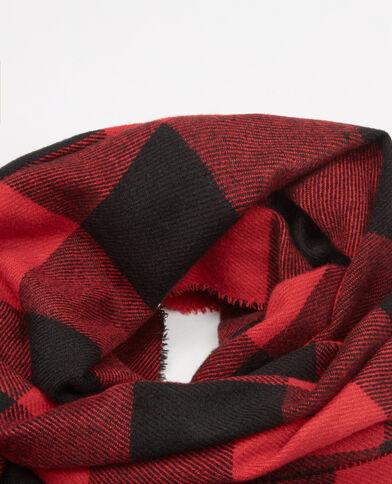 Sjaal/plaid met dambordpatroon rood