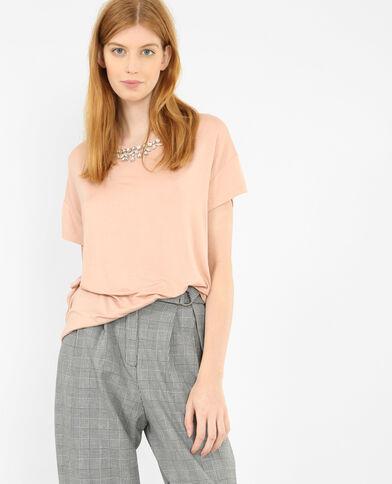 T-shirt met sieraden roze