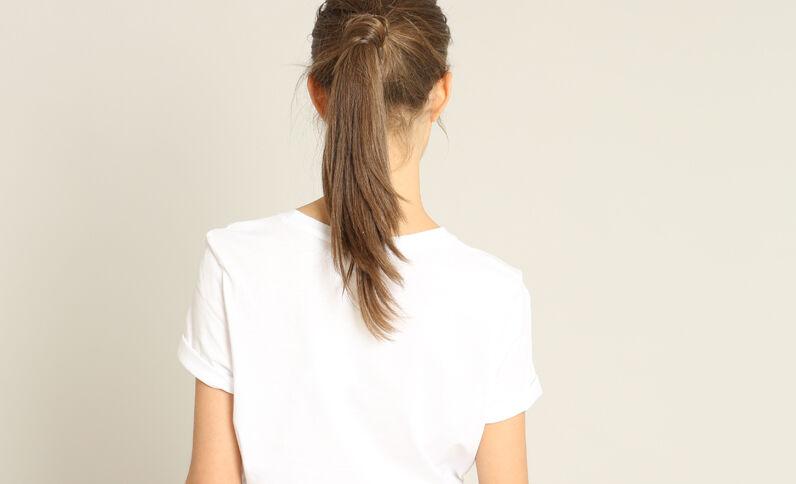 T-shirt met opschrift ecru