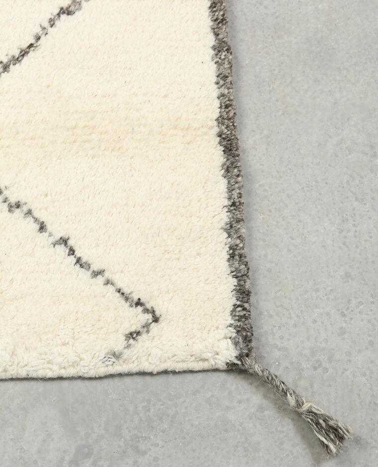 tapis rectangulaire losanges blanc cass 907217912i07 pimkie. Black Bedroom Furniture Sets. Home Design Ideas